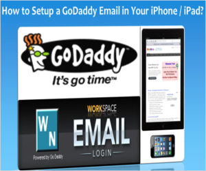 godaddy email iphone setup godaddy email in iphone or webnots 10706