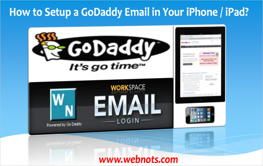 Setup GoDaddy Email in iPhone