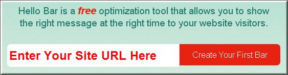 Step1 - Enter site URL for Hello Bar