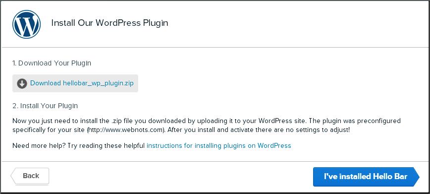 Step6 - WordPress Plugin Shortcode for Hello Bar