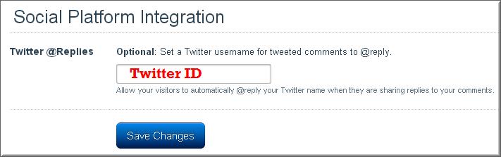 Twitter Disqus Integration