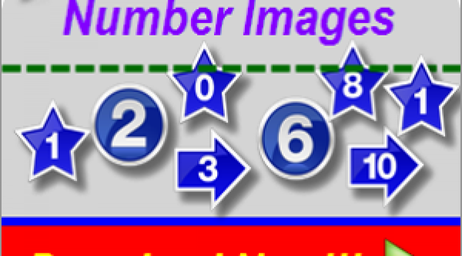 Download Free Number Images in Star, Circle and Arrow Format