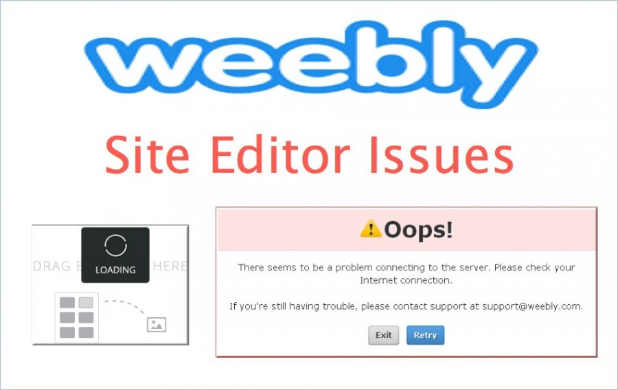 Weebly Site Editor Issues