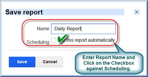 Scheduling AdSense Report
