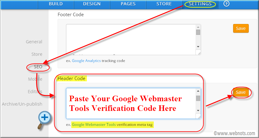 Verify Weebly Site in Google WMT