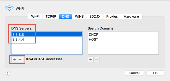Adding DNS Servers in Mac
