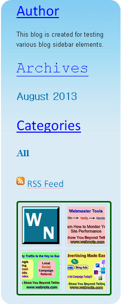 Customized Weebly Blog Sidebar