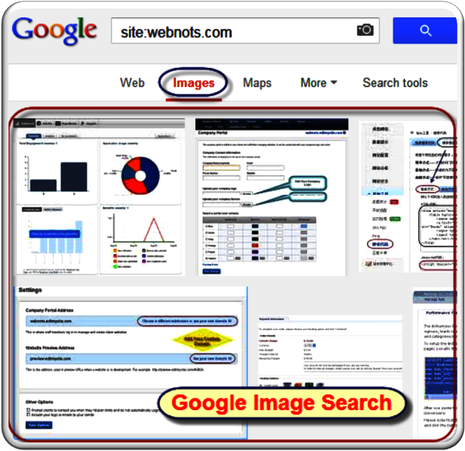 Google Image Search for Site Operator