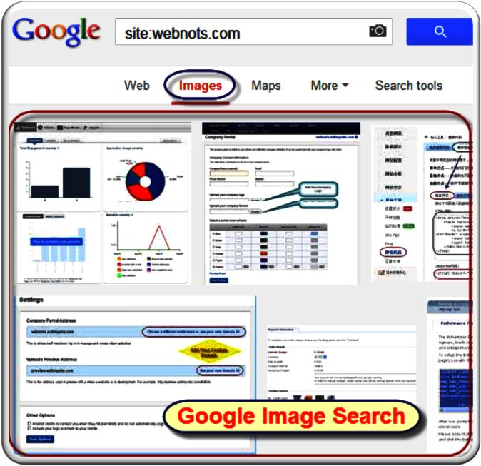 Поиск картинок Google для оператора сайта