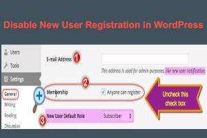 Disable New User Registration in WordPress