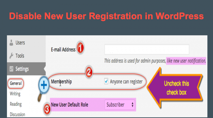How to Disable New User Registration in WordPress?