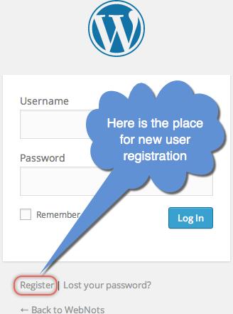 WordPress New User Registration
