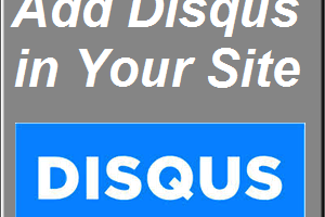 Add Disqus in Website