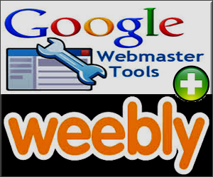 Add Google Webmaster Tools in Weebly