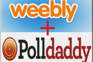Add Polldaddy Poll in Weebly