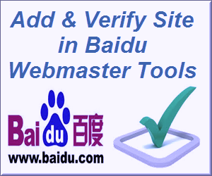 Add & Verify Site in Baidu Webmaster Tools