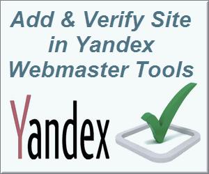 Add & Verify Site in Yandex Webmaster Tools