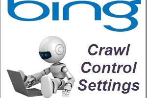 Bing Crawl Control Settings