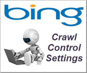 Bingbot Crawl Control Settings in Bing Webmaster Tools