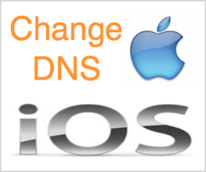 Change DNS Server in iOS for iPhone and iPad