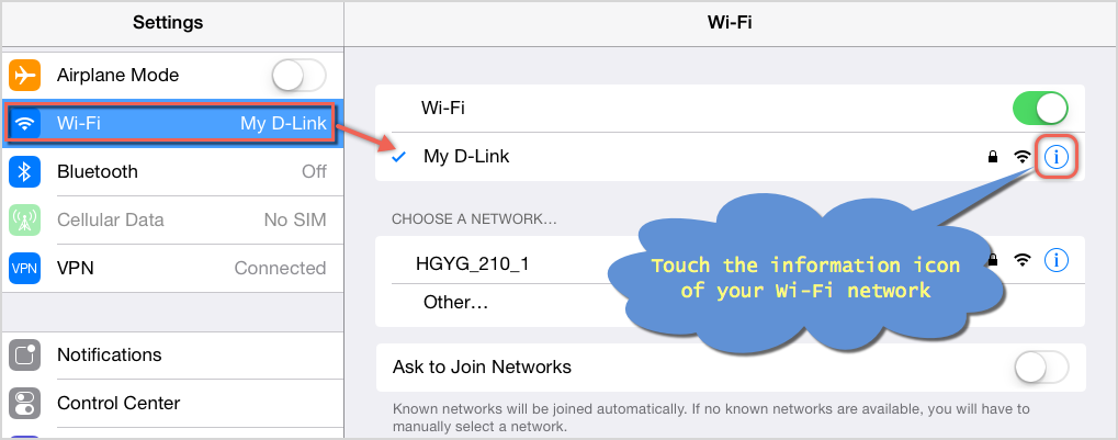 Change DNS in iOS