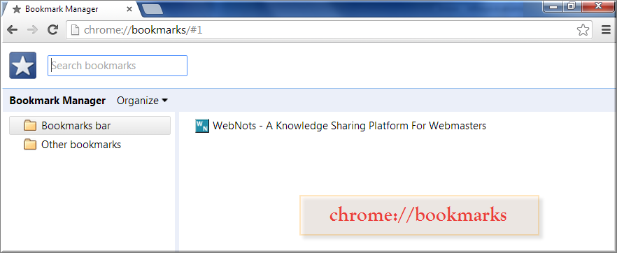 Chrome Bookmarks Command