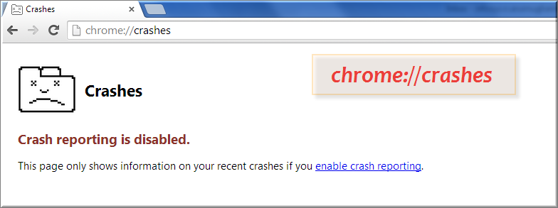 Chrome Crash Report Command