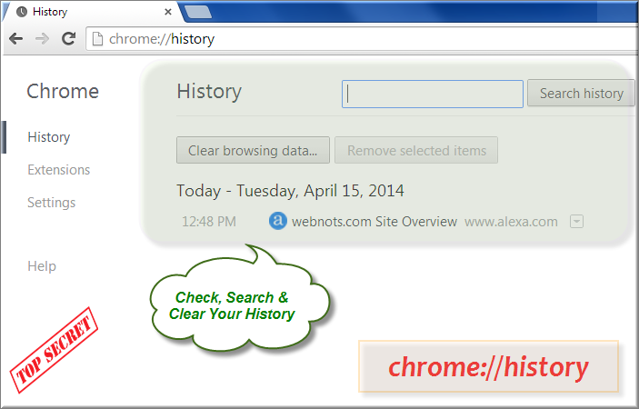 Chrome History Command