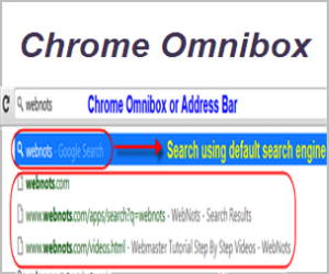 Chrome Omnibox Search