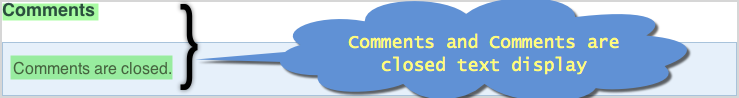 Comments Closed Message in Weebly