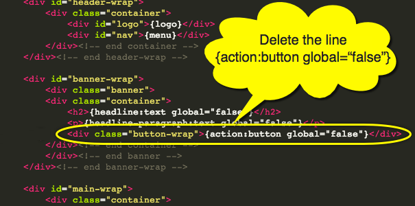 Delete Call to Action Button in Weebly Landing Page