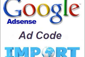 Import AdSense Ad Code