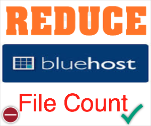 How to Reduce Bluehost File Count Limit?