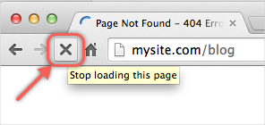 Stop Loading the Page