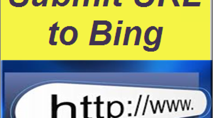 What is Submit URL Option in Bing Webmaster Tools?