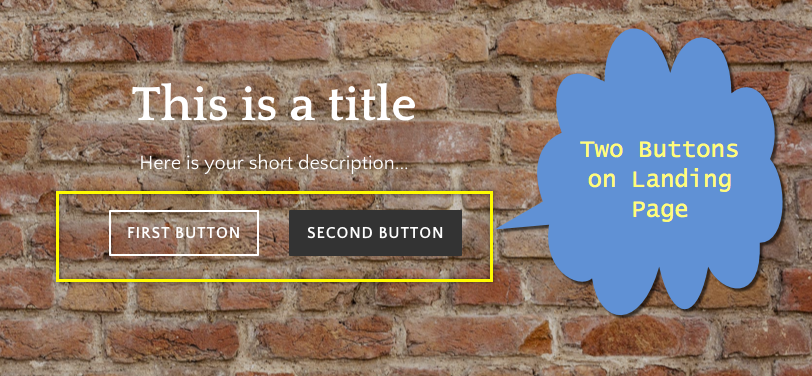 Two Buttons in Weebly Landing Page