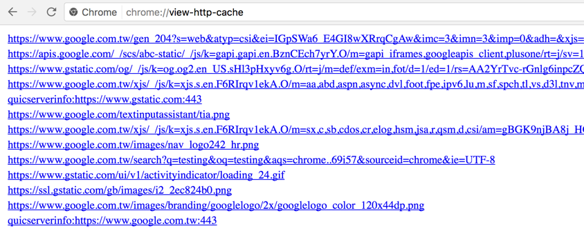 View HTTP Cache Status in Chrome
