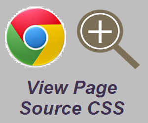 View Page Source CSS in Chrome