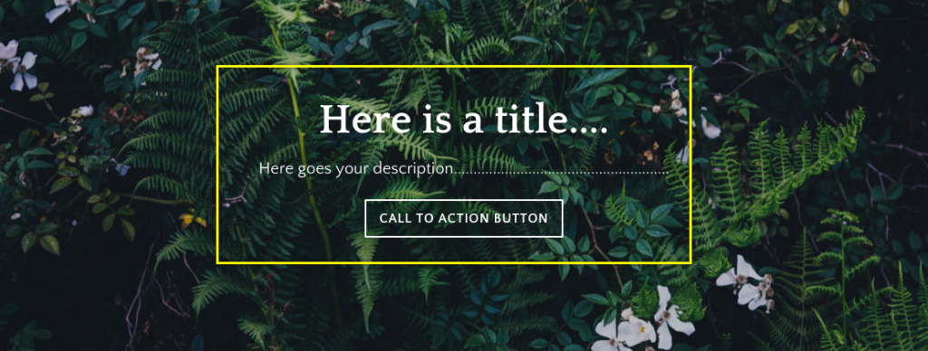 Weebly Landing Page with Call To Action Button