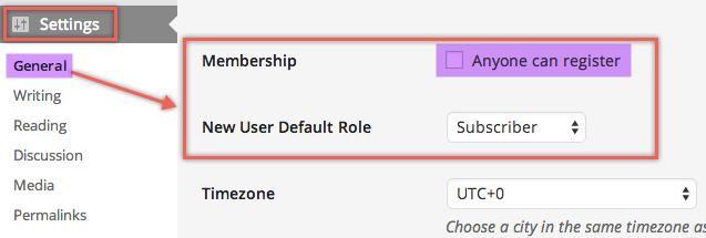 Отключить регистрацию нового пользователя в WordPress