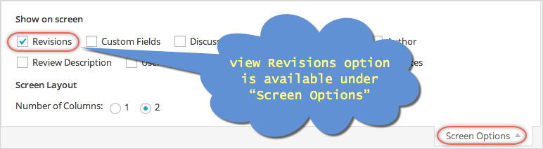 Enable Viewing WordPress Revisions