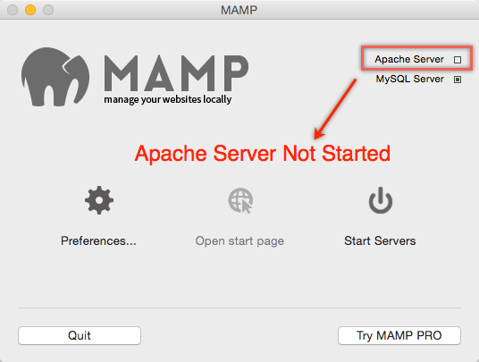MAMP Apache Server Not Started with Mac Yosemite
