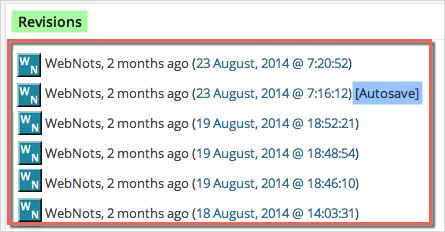 Редакции сообщения WordPress с автосохранением