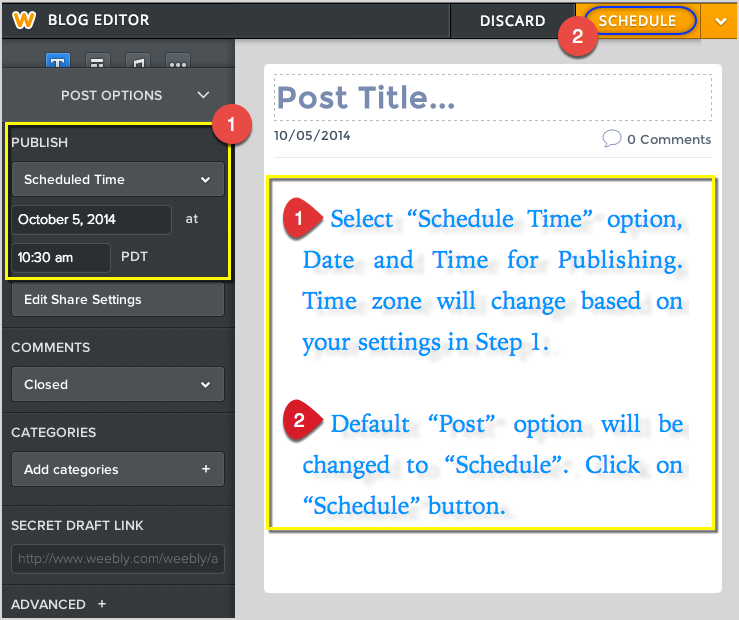 Scheduling Weebly Blog Post