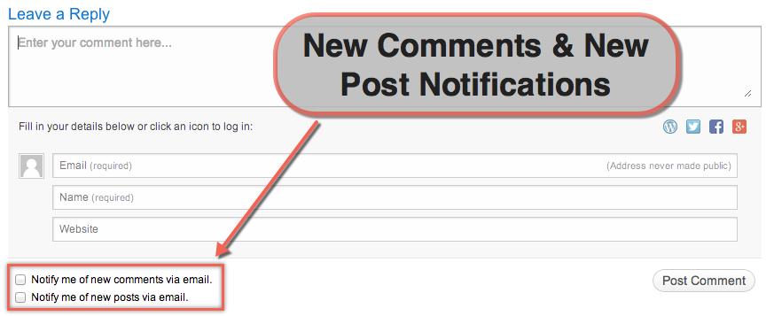 Просмотр новых комментариев и флажков для уведомлений о публикации