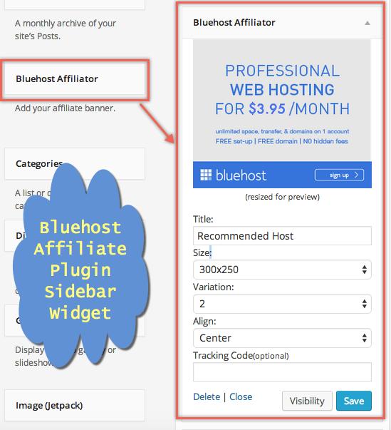 Adding Bluehost Affiliate Banner in WordPress Site Sidebar