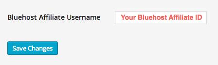 Affiliate username in Settings