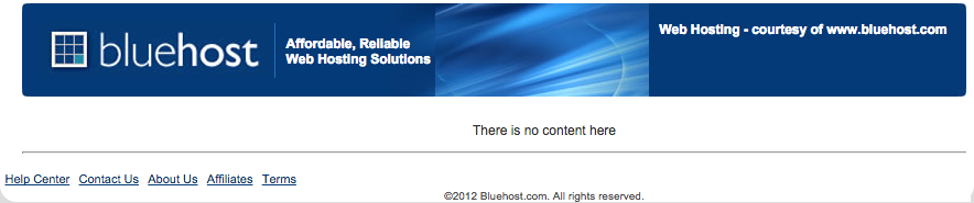 Bluehost Parked Domain Message