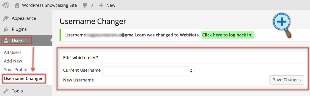 Change WordPress Username with Plugin