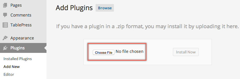 Choose File to Upload
